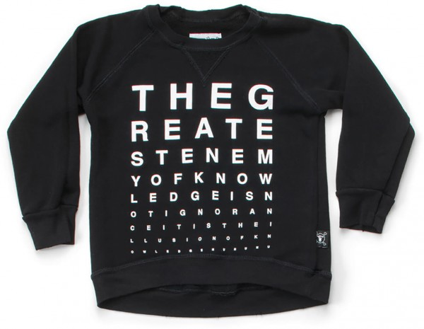 nununu Sweatshirt Eye Test schwarz NU1523