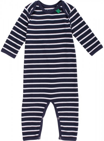 Fred's World Langarm Overall gestreift blau