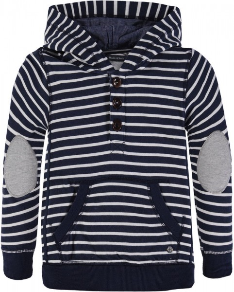 Marc O'Polo Sweatshirt mit Kapuze gestreift 1743413 0
