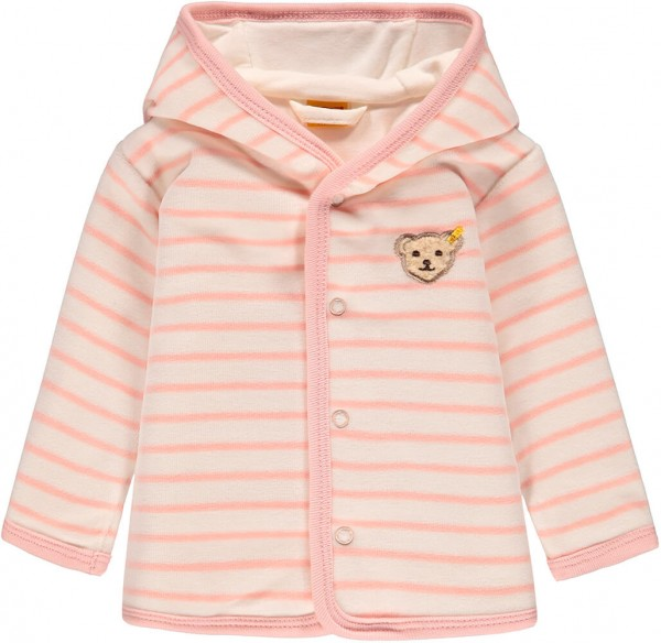 Steiff Sweatjacke Nicky rosa gestreift 6842903 1