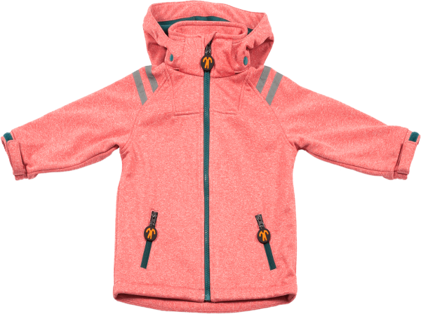 ducksday Softshelljacke rot/rosa 1