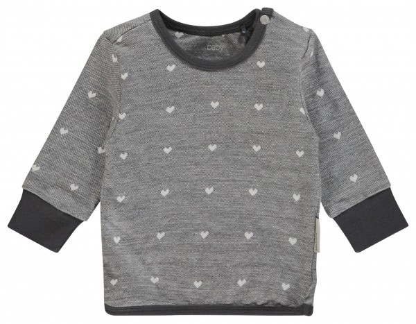 noppies Sweatshirt Herzen allover grau 84776 1