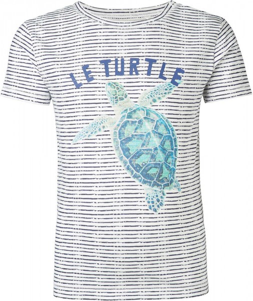 noppies T-Shirt Turtle weiß gestreift 85302